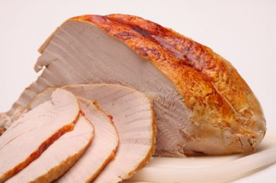 sliced cooked turkey