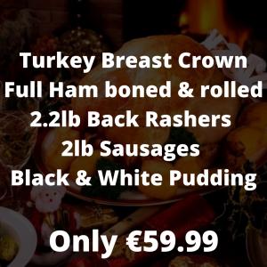 Large Ham Fillet Turkey Crown Boneless (feeds 14 to 16 people) (4)